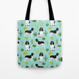 English Springer Spaniel southwest desert cactus pattern by pet friendly Tote Bag