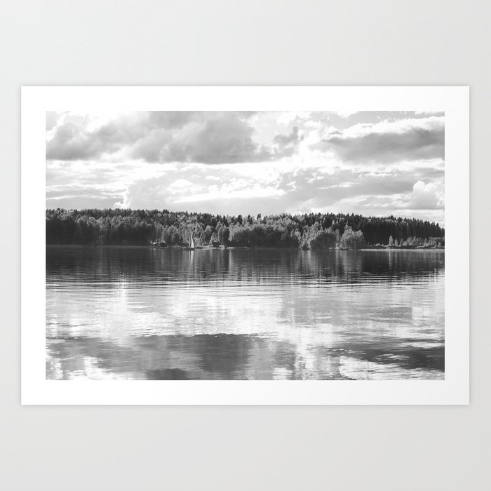 Reflections On A Lake #decor #society6 Art Print