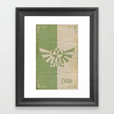 Legend of Zelda: Triforce Framed Art Print