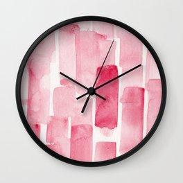 Pink  Watercolour Patterns   190129 Abstract Art Watercolour Wall Clock
