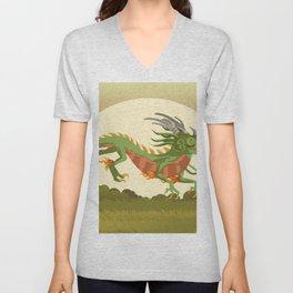 traditional chinese dragon Unisex V-Neck