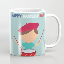 Little Kid and French Drum - Bastille Day Coffee Mug