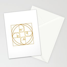 Golden Sprout Stationery Cards