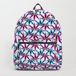 WEED LOVE, FUCHSIA BLUE Cannabis Smoke Marijuana Backpack