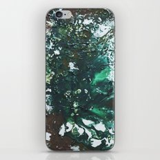 Green abstract liquidity. iPhone & iPod Skin