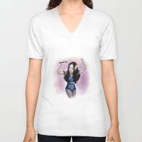 selena V-neck T-shirts featuring Revival by Judit Mallol