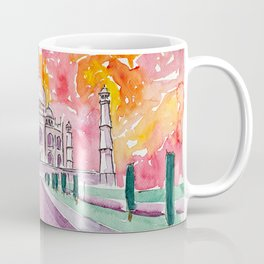 Taj Mahal - Colorful Crown of the Palace and Love Coffee Mug