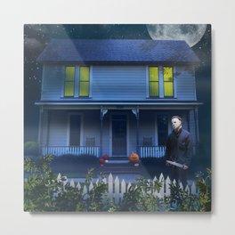 Haunted House art print Metal Print