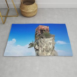 House in the middle of the sea Rug