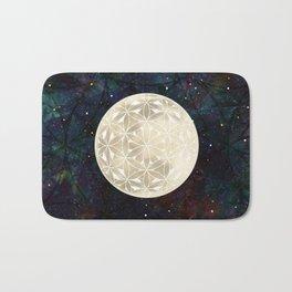 The Flower of Life Moon 2 Bath Mat