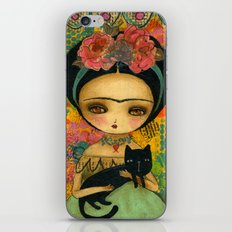 Frida And Her Cat iPhone & iPod Skin