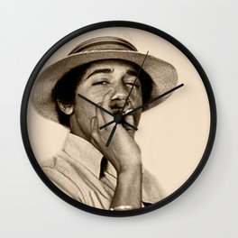 Young Obama Cool Wall Clock