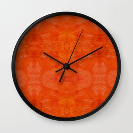 Aztec in orange Wall Clock