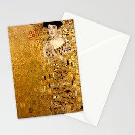 Woman in Gold Portrait by Gustav Klimt Stationery Cards