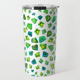 Green beautiful hand drawn gems. Travel Mug