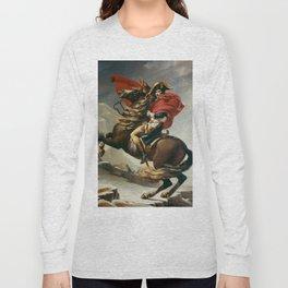 Napoleon Crossing The Alps Long Sleeve T-shirt