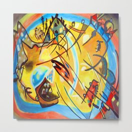 Wassily Kandinsky Fugue Landscape Metal Print