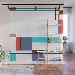 Mondrian print design Wall Mural