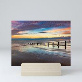 Beach Sunset Wales Mini Art Print