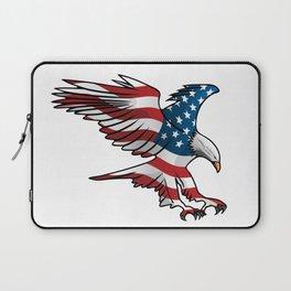 Patriotic Flying American Flag Eagle Laptop Sleeve