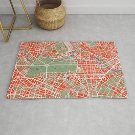 Berlin city map classic Rug