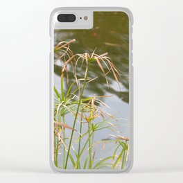 Facing the lake Clear iPhone Case