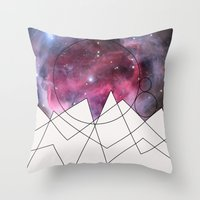 outer space Throw Pillows featuring Outer Space by FlurinaJT