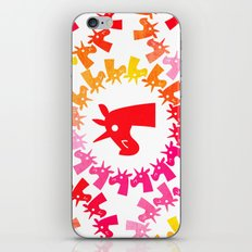 Color Me Red Unicorn iPhone & iPod Skin