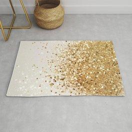 Sparkling Gold Glitter Glam #2 #shiny #decor #art #society6 Rug