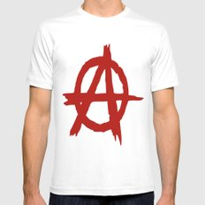 Anarchy White SMALL Mens Fitted Tee