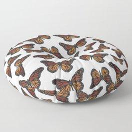 Mystical monarch butterfly Floor Pillow