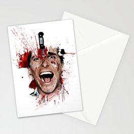 American Psycho Patrick Bateman serial killer digital artwork Stationery Cards