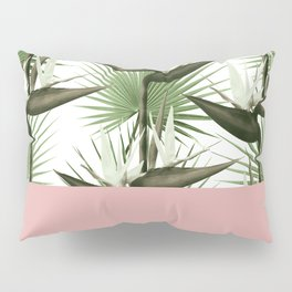 Strelitzia Tropical Pink Pillow Sham