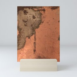 Tarnished Copper rustic decor Mini Art Print
