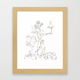 Candelabra Framed Art Print