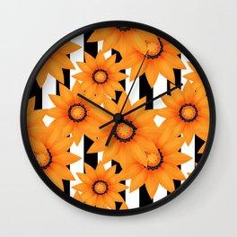Yellow sunflowers . Wall Clock
