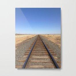 train tracks, Marfa sky Metal Print