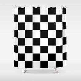 Checkerboard pattern Shower Curtain