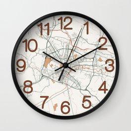Ljubljana City Map of Slovenia - Bohemian Wall Clock