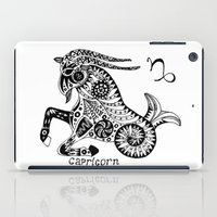 capricorn iPad Cases featuring Capricorn by Anna Shell