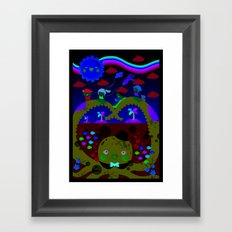 mr. octopus' bridge Framed Art Print
