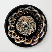 hook Wall Clocks featuring Hook Rings by Brian Raggatt