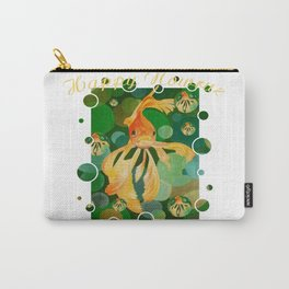 Happy Nowruz Persian New Year Goldfish In Green Sea Carry-All Pouch