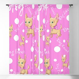 Dog Lovers Gift Blackout Curtain