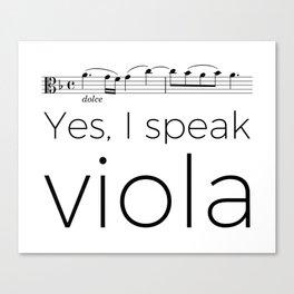I speak viola Canvas Print