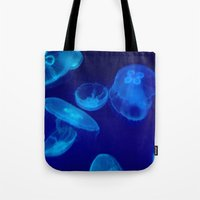 jellyfish Tote Bags featuring 🔵 Jellyfish by Tru Images Photo Art