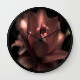 Ghost Lily Wall Clock