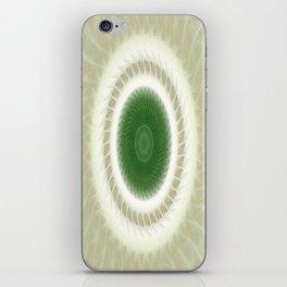 White Poinsettias Kaleidoscope 1 iPhone Skin