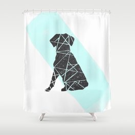 Geometic dog Shower Curtain