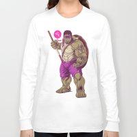 ninja turtle Long Sleeve T-shirts featuring Hulk Ninja Turtle by Mike Wrobel